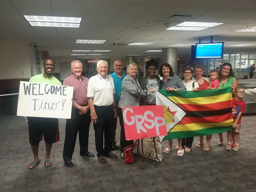 Picking up our GRSP student Tino from Zimbabwe at the airport. She will start classes at University of West GA in the fall.