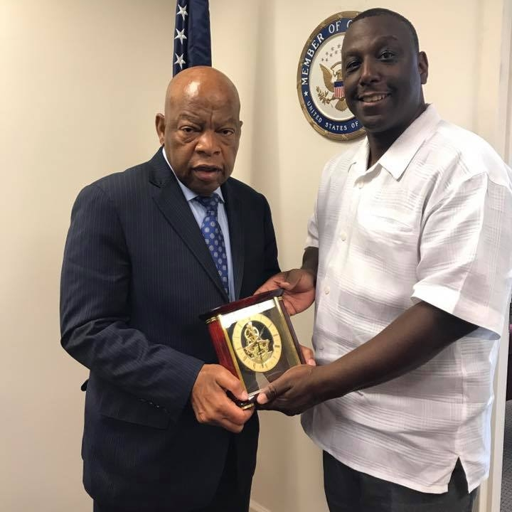 In 2016, Ceasar Gaiter presented Congressman John Lewis with a Trailblazer Award
