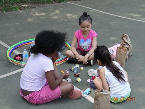 Children benefiting from Alpharetta's summer lunch program